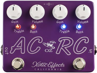 Xotic Effects AC/RC-OZ - kombinace zkreslení efektů Xotic Effects AC Booster a RC Booster v jednom pedálu