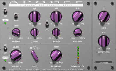 Apogee: PlugIn Symphony ECS Channel Strip