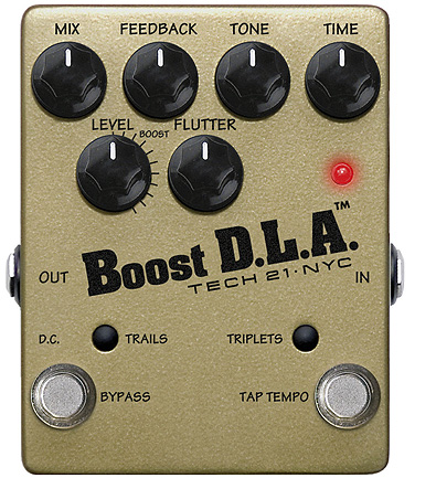Tech21 NYC Boost D.L.A. - analogový delay made in USA
